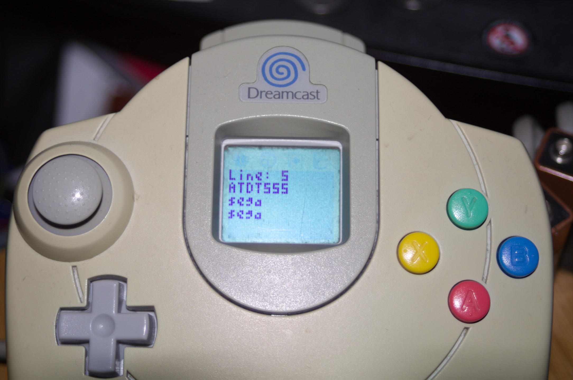 PPP connection debug information on a VMU